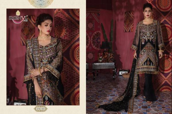 Shenyl Fab Shenyl HIt Vol 5 Fox Georgette With Heavy Embroidery Work Pakistani Suit Collection