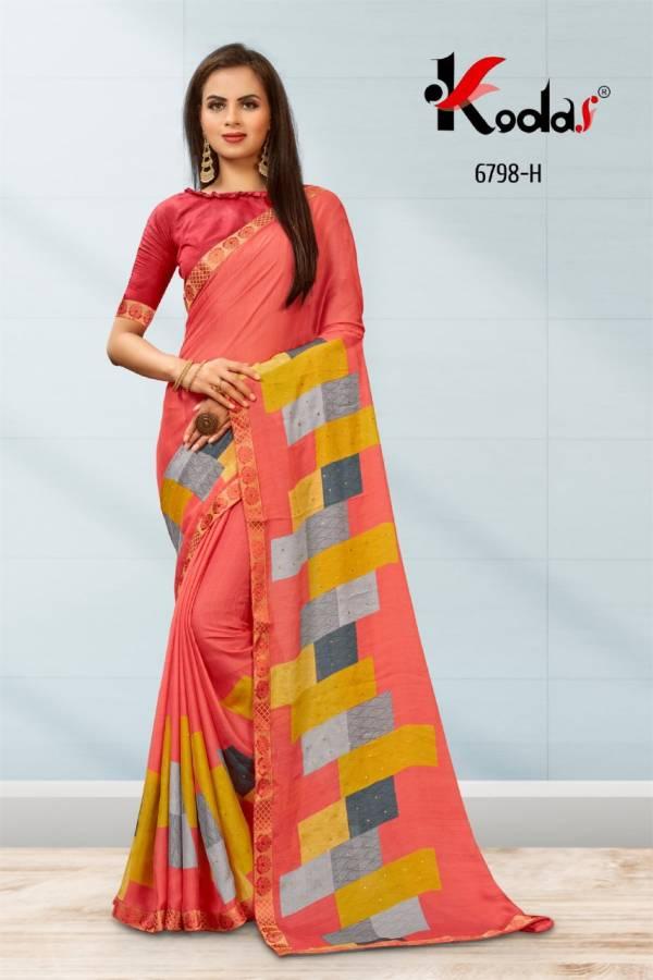 Kodas Roshni-1 Moss Chiffon Printed Casual Wear Designer Sarees Collection