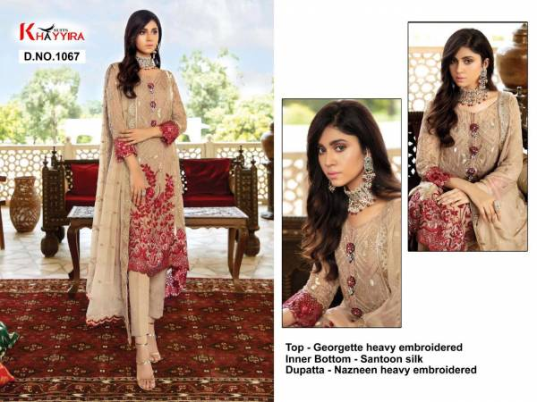 Khayyira Eleonora Series 1063-1067 Georgette With Heavy Embroidery Work Festival Wear Pakistani Suits Collection