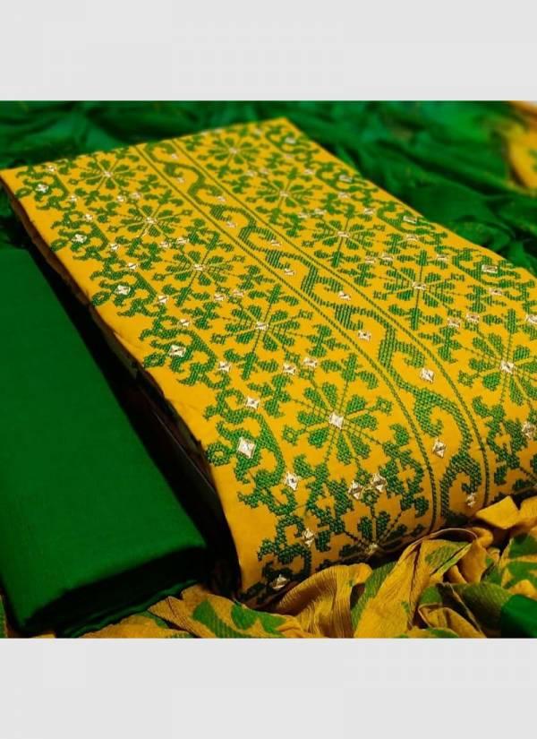 Designer Suits Cotton Fancy Hand Work Wedding Wear Designer Dress Material Suits Collection