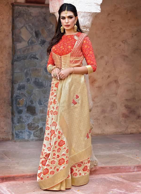Mahotsav Nayonika's Printed Weaved Silk Designer Traditional Wear Sarees Collection