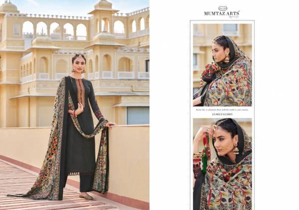 Mumtaz Art Jamdani Series 5001-5010 Pure Pashmina Digital Print With Kashmiri Embroidery Work Winter Season Suits Collection