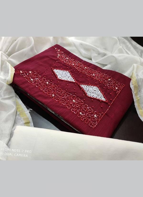 Designer Suits Series 101DS-104DS Slub Cotton Exclusive Dress Material Suits For Women Collection