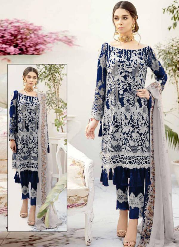 Charizma Ramsa Ragoon Series 01A-01C Heavy Georgette Embroidery With Sequins Work Latest Designer Pakistani Suits Collection