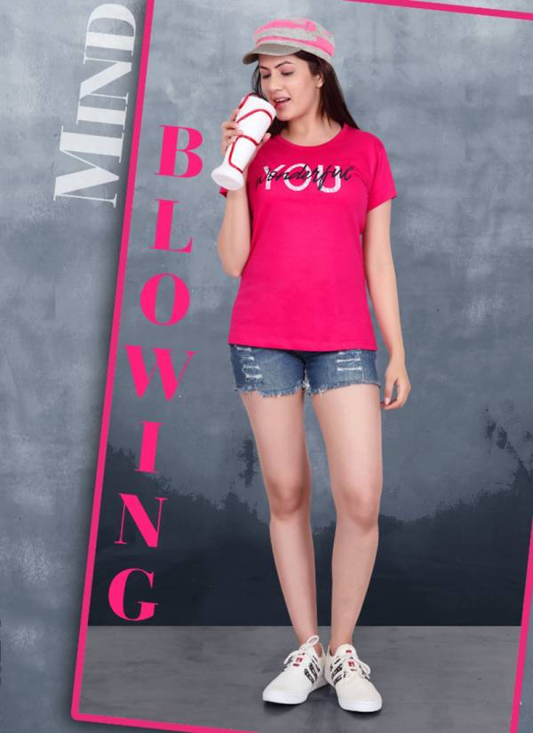 Lady Hill T-shirt vol 43 Series 43A-43J Premium Hosiery Fancy T-shirt Collection For Girls