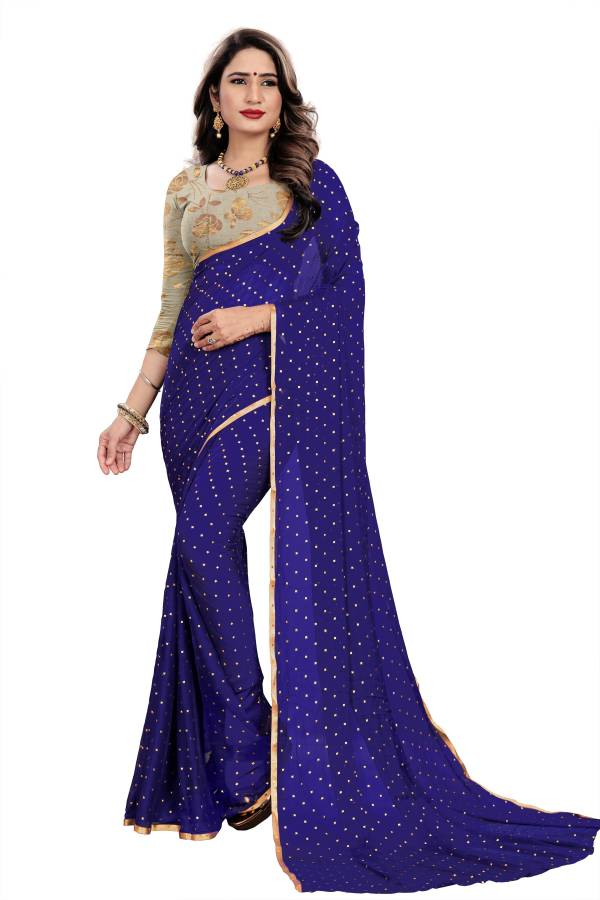 Chirag Star 2 Series A-K Nazneen Chiffon With Duedrop Foil Designer Sarees Collection 2