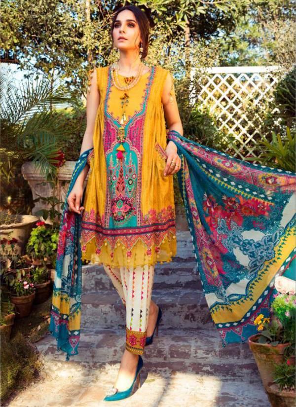 Deepsy Mariya B M Print 2 Pure Cotton Mal Mal Eid Special Pakistani Suits Collection