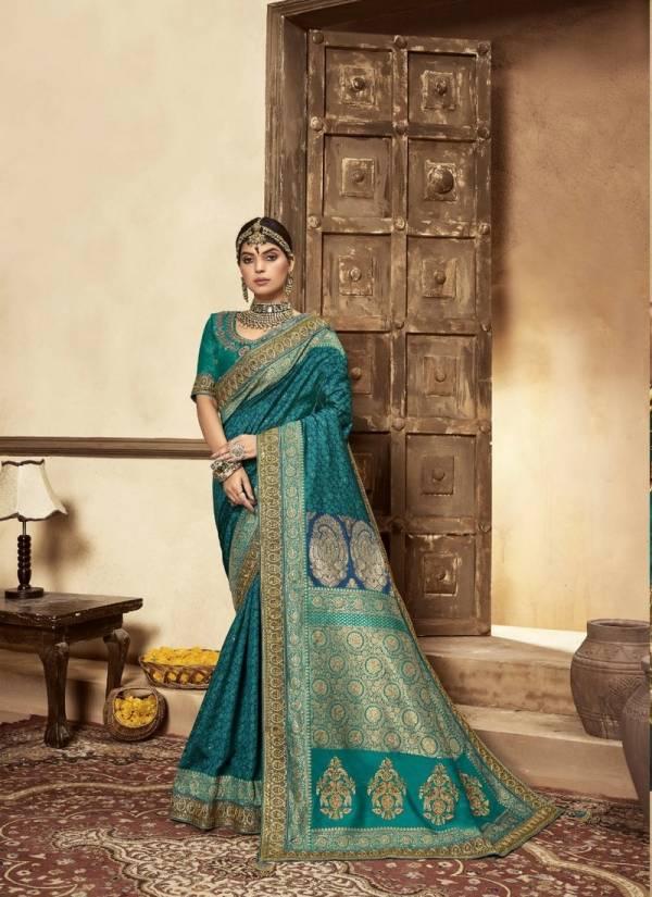 B-Fine Mehraab Fancy Handloom Banarasi Fancy Embroidery Work With Rich Pallu Designer Sarees Collection