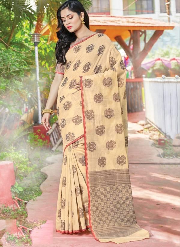 Sangam Asopalav Series 1001-1006 Cotton Handloom Fancy Look Designer Casual;l Wear Sarees Collection