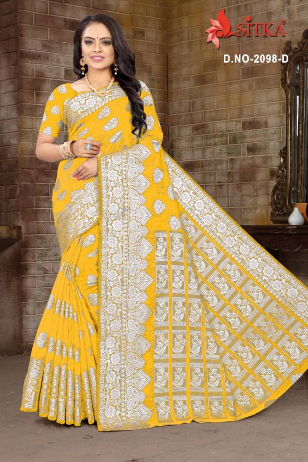 Kodas Sitka Belize Series 2098A-2098D Poly Cotton Weaving Latest Designer Traditional Wear Sarees Collection