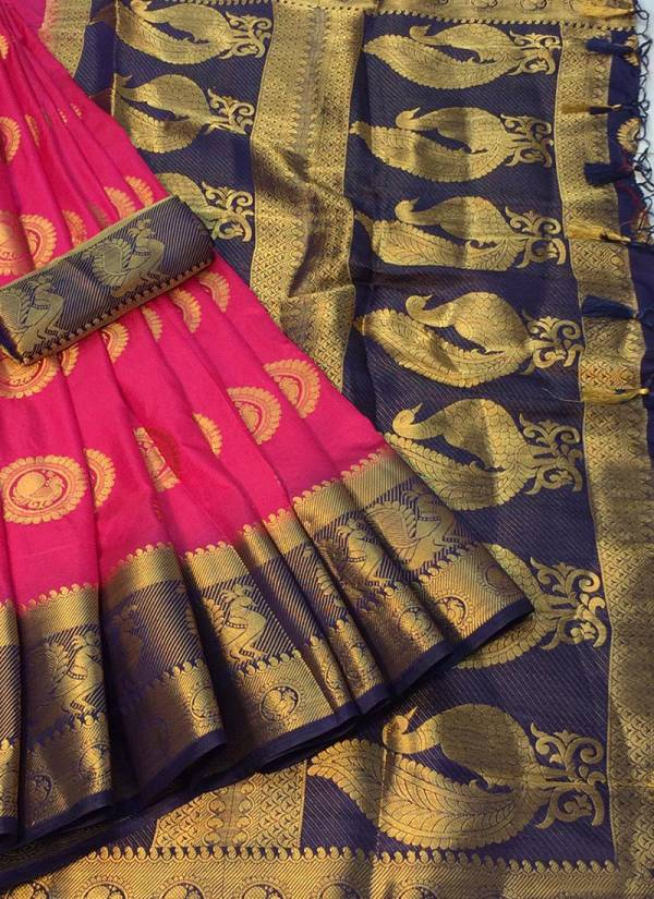 Nakshatra Fashion Studio Nylon Silk With Zari Weaving Work With Reach Pallu Wedding Wear Sarees Collection