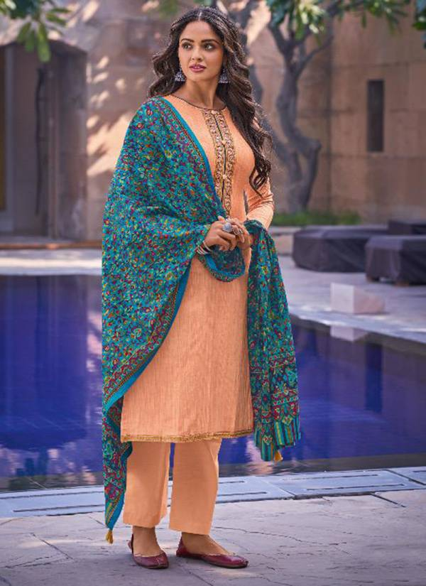 Deepsy Kaani Series 95001-95008 Jam Cotton Malmal Printed With Embroidery Work Eid Special Wear Plazzo Salwar Suit Collections