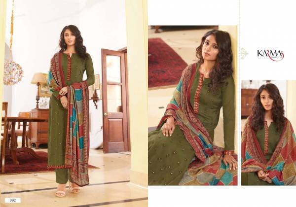 Karma Sabah Vol 2 Muslin With Embroidery Work Festival Wear Salwar Suits Collection
