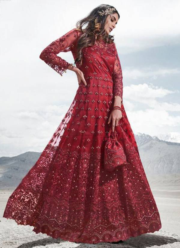 Mohini Fashion Glamour 83 Series 83001-83005 Premium Ethnic Wear Net With Stylish Look Work Party And Wedding Wear Anarkali Suits Collection