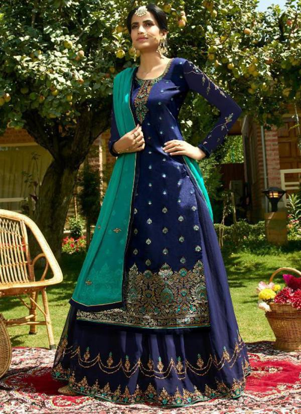 RSF Zoha Series 17601-17606 Pure Silk Jacquard Heavy Fancy Hand Work Long Weeding Wear Suits Collection