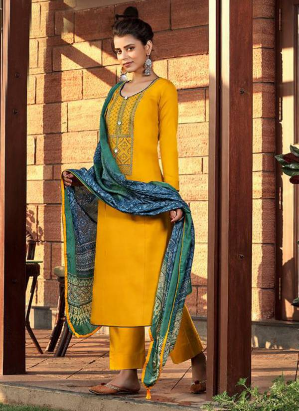 Adinath Prints Pakeeza Series 1001-1006 Heavy Jam Cotton Prints With Embroidery Work Salwar Suits Collection