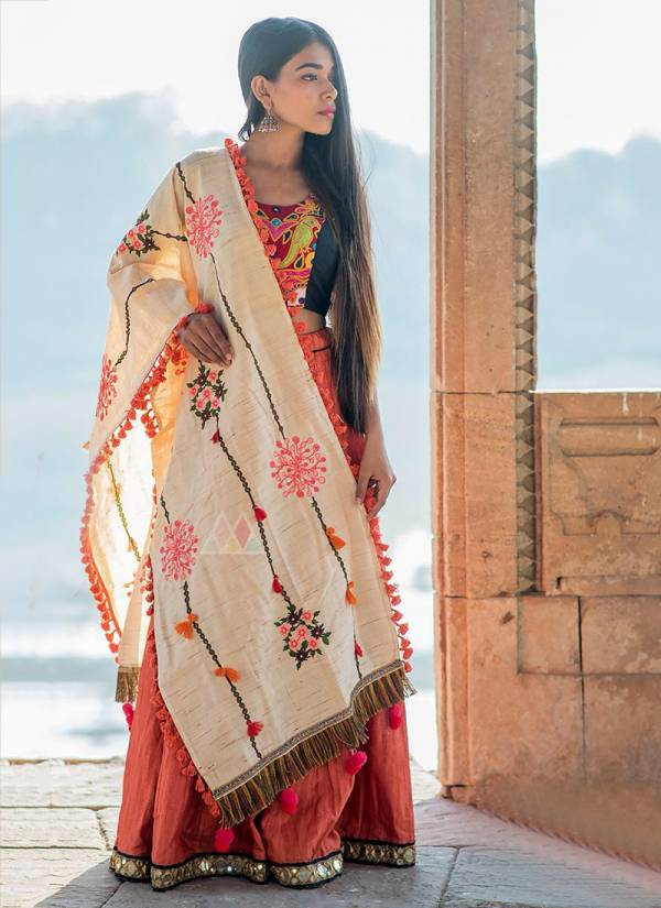 Mesmora Series 7002-7014 Khadi Cotton Base Colourful Embroidery Work Latest Designer Casual Wear Dupatta Collection