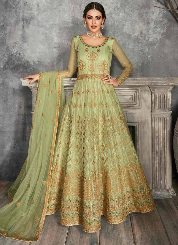 Aashirwad Kaira Butterfly Net Satin Silk With Embroidery Work Party Wear Designer Lehenga Choli Collections