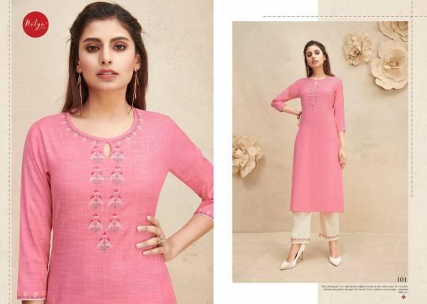 LT Fabrics Shanaya Fancy Cotton With Work Stylish Kurti With Bottom Collection
