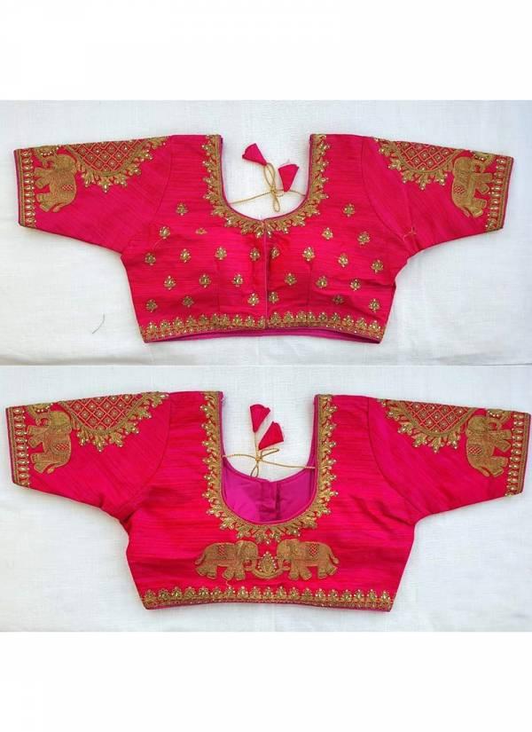RF Elephant Vol 2 Thread Zari Work Mulbery Silk Blouses Collection