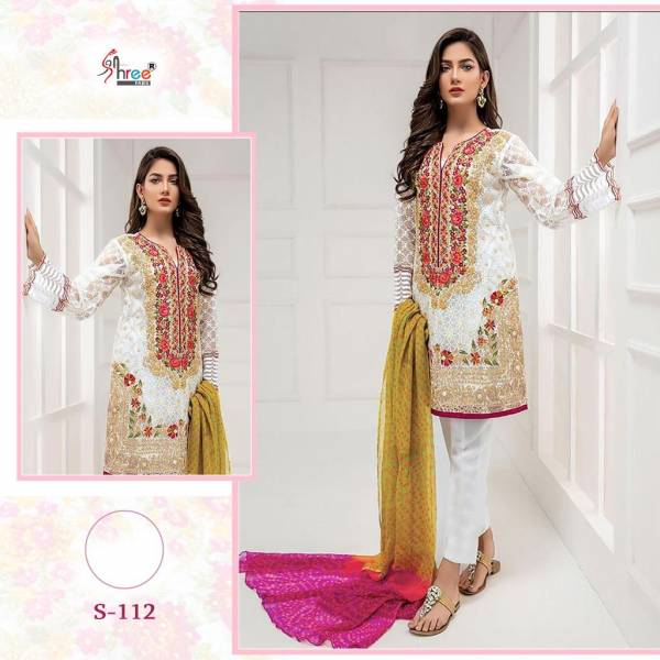 Shree Fab Series S-108-S-112 Heavy Net With Heavy Embroidery Work New Designer Pakistani Suits Collection