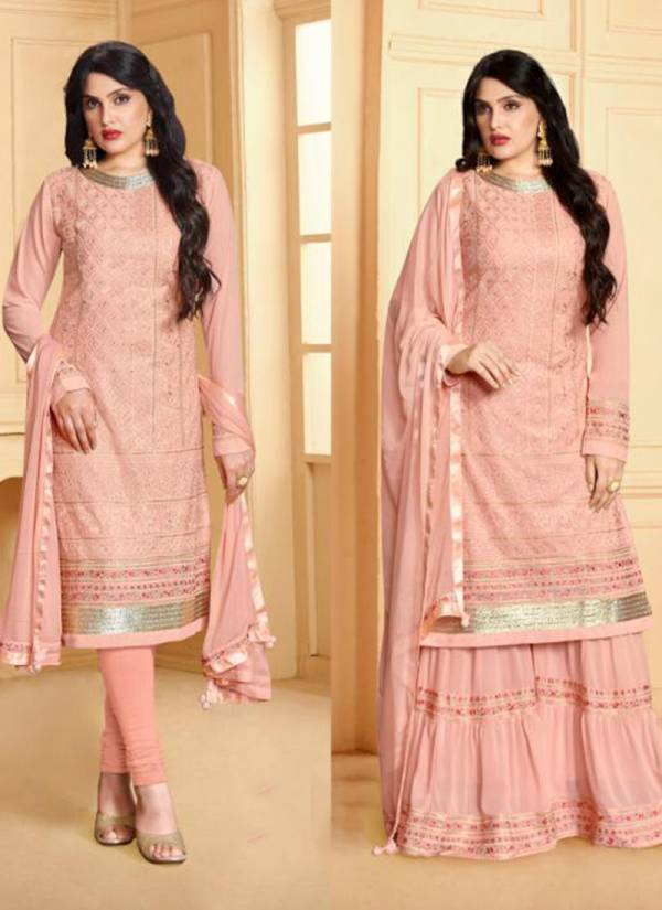 Your Choice Rajwadi 2 Series 3515-3518 Faux Georgette With Dull Santoon Inner Traditional Suits Collection