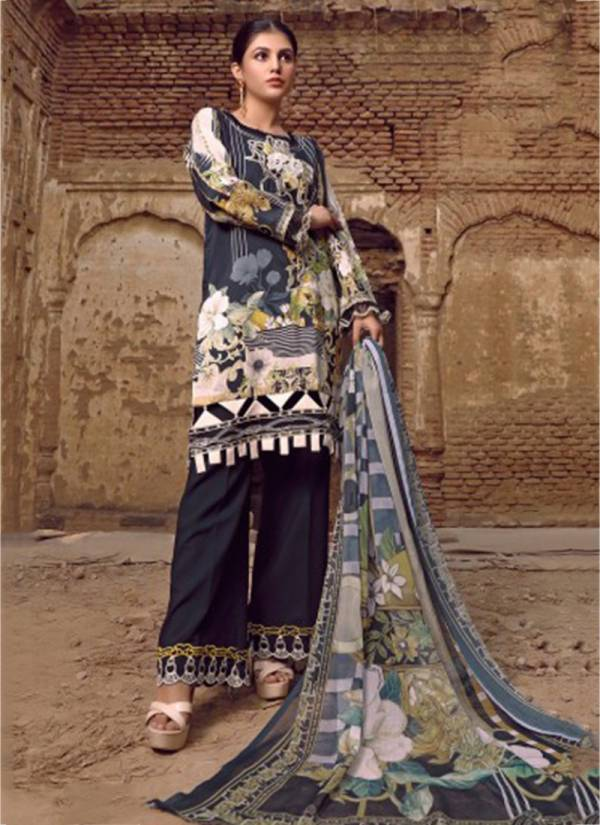 Majesty Firdous Vol 4 Series 4001-4006 Jam Silk Cotton Digital Print With Embroidery Work Pakistani Suits Collection