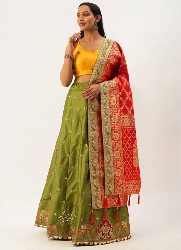 Kesari Exports Silk And Net wedding Wear Hand Work Designer Lehenga collection