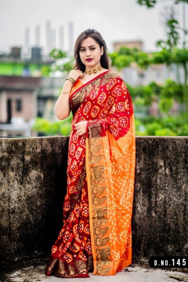 Nakshatra Fashion Studio Bandhani Saree Vol 6 Series 145-150 Latest Designer Art Silk With Jacquard Border Bhadhani Casual Wear Sarees Collection