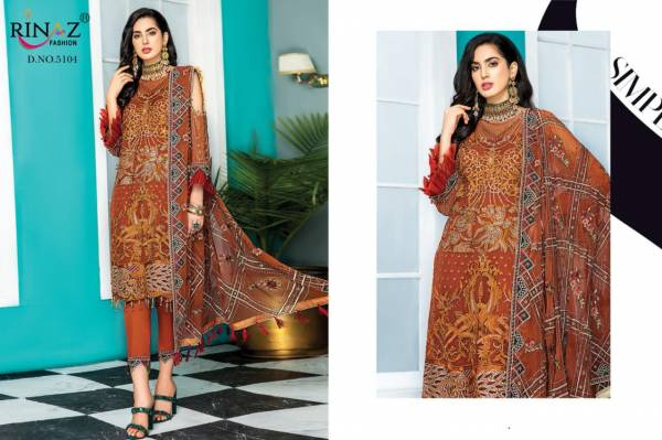 Rinaz Fashion Maryam Gold Vol 8 Faux Georgette With Embroidery Pakistani Suits Collection