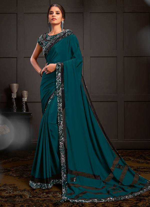 Mahotsav Celeste Mohmanthan Royal Georgette Satin Silk Party Wear Designers Saree Collections