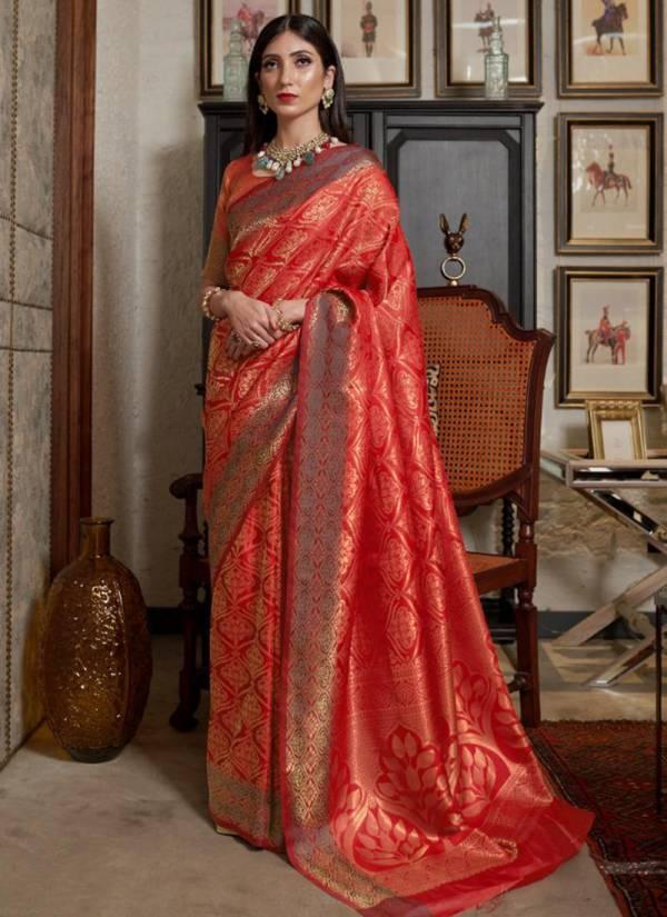 Rajtex Fabric Kiyara Silk Series 138001-138006 Soft Weaving Silk With Dying Designer Wedding Wear Sarees Collection