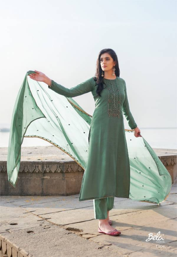Bela Fashion Nirvana Cotton Silk With Hand Work Palazzo Suits Collection