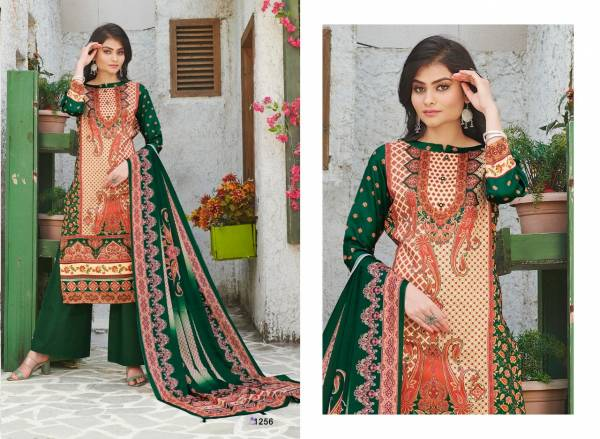 Bipson Kashmiri Queen Pure Cotton Satin Digital Printed Palazzo Suits Collection