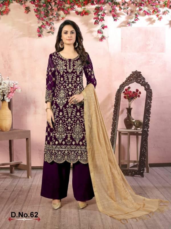 Twisha Vaani Vol 6 Faux Georgette New Designer Palazzo Suits Collection