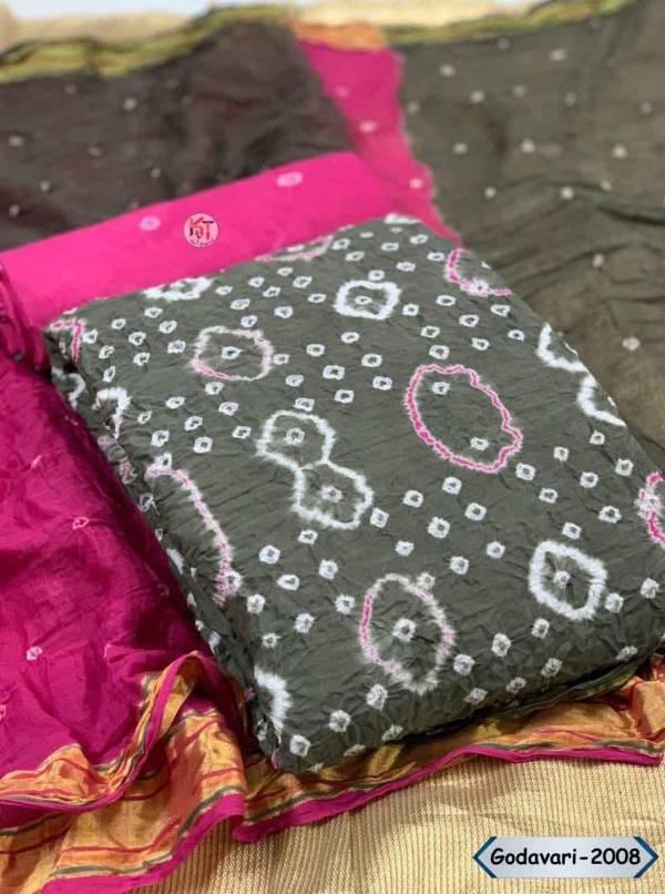 Glam Elegance Godavari Series 1-10 Original Potli Pure Cotton Bandhani Non Catalog Casual Wear Dress Material Collection