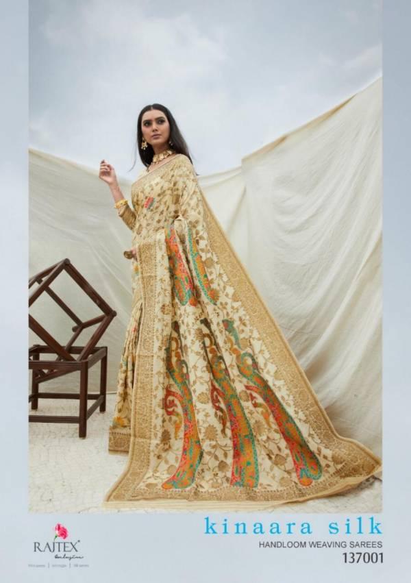 Rajtex Kinnara Silk Handloom Weaving With Fancy Digital Printed Work With Rich Pallu Wedding Wear Designer Sarees Collection