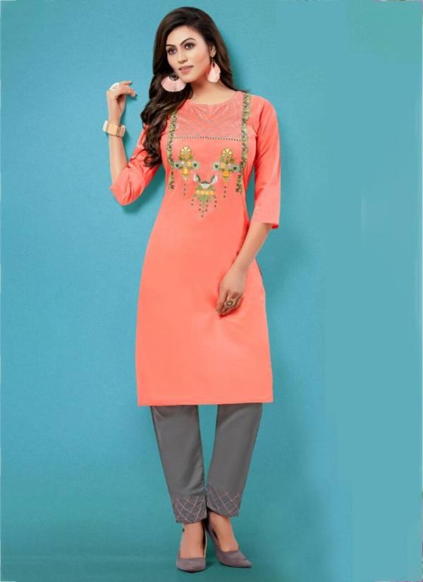 Kiana Glamour Muslin Rayon Latest Designer Kurtis With Bottoms Collection