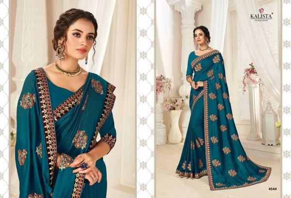Kalista Fashion Euro Vichitra Silk New Designer Sarees Collection