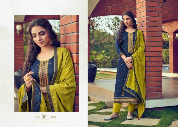KVS Nihaar Cotton Satin With Sequence Work Straight Suits Collection