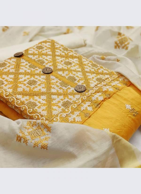 Designer Suits Series 1DA-8DA Latest Designer Chanderi Cotton Multi Work Festival Wear Salwar Suits Collection