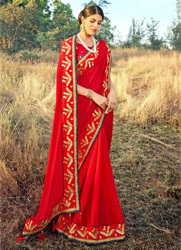 Saroj Tarana Series 93001-93006 Crepe Silk Designer Traditional Wear Sarees Collection