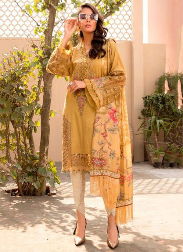 Saniya Trendz Maria B Lawn 2021 Cambric Cotton Printed With Heavy Embroidery Work Pakistani Suits Collection