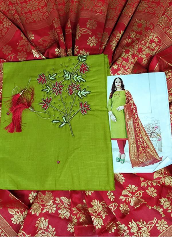 Rahu NX Sakshi Series 1S-12S Cotton Flex Slub Fancy Hand Work New Deisgn Non Catalog Suits Collection