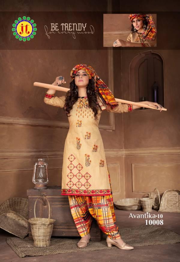 JT Suits Avantika Vol-10 Pure Cotton Readymade Salwar Suit Collection