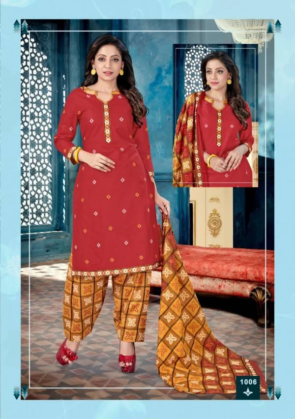Alishka Fashion Kia Series 1001-1010 Cotton Printed Casual Wear Fancy Readymade Salwar Suits Collection