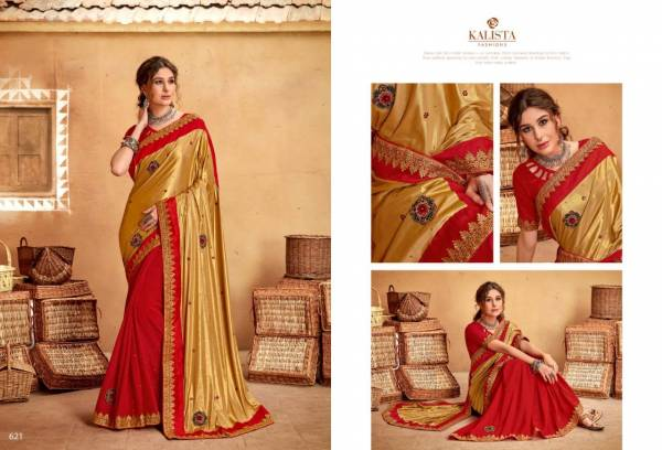 Kalista Fashion Amrut Series 621-626 Vichitra Silk Exclusive Designer Wedding Wear Sarees Collection