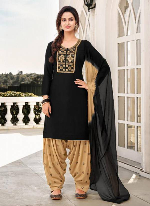 Kapil Trends Faster Rayon With Fancy Work Palatial Suits Collection