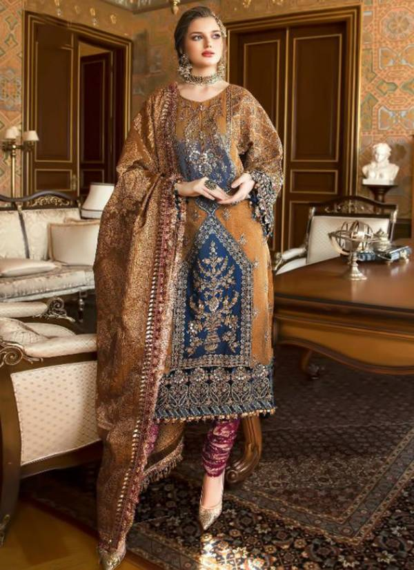 Shree Fab Mariya B Vol 12 Series 1490-1494 Butterfly Net With Heavy Embroidery Velvet Letst Eid Special Pakistani Suits Collection