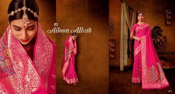 Shruti Fashion Shubhkamnaye Banarasi Silk New Designer Wedding Wear Sarees Colleection